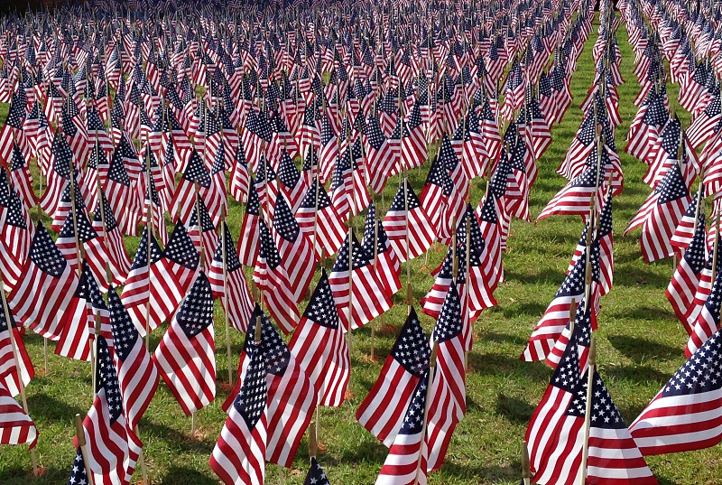 A flag set for every service member who in Iraq or Afghanistan photo