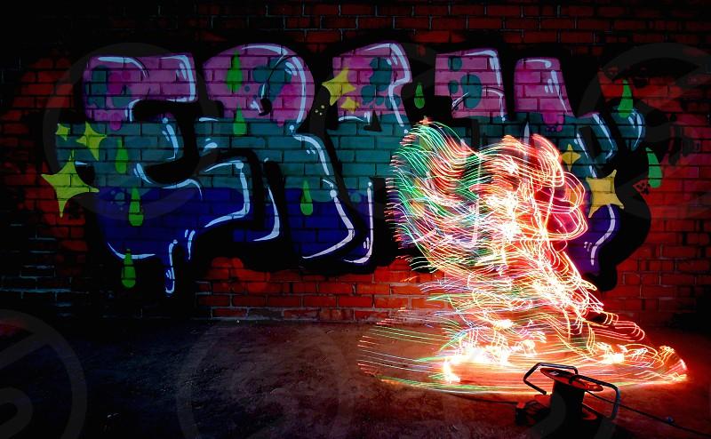 light colors shapes graffitti photo