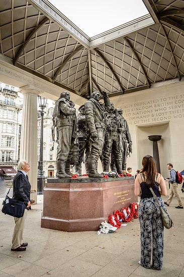 RAF Bomber Command Memorial in London. It commemorates the 55573 who died while serving in the Bomber Command during the Second World War. photo