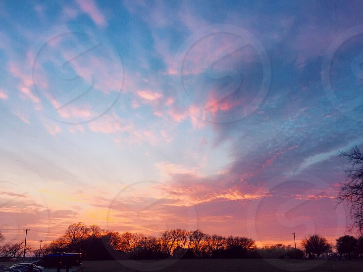 Texas; sunset; sky; pink ; country photo