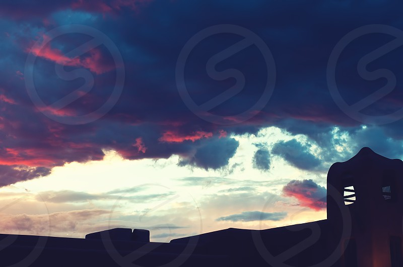 Summer Sunset in Santa Fe NM photo
