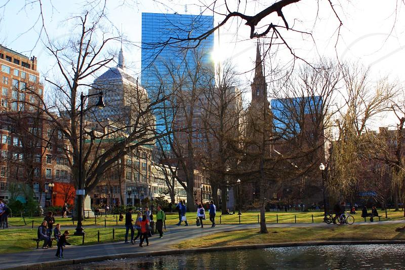 Boston city park photo