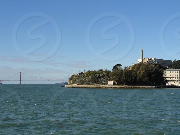 Alcatraz and golden gate photo