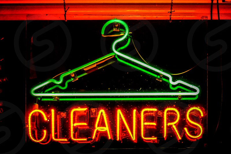 Cleaners in neon photo