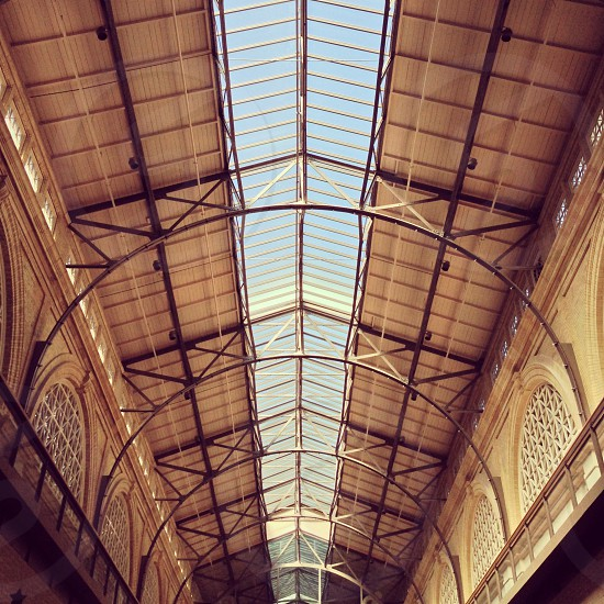 brown steel roof frame photo