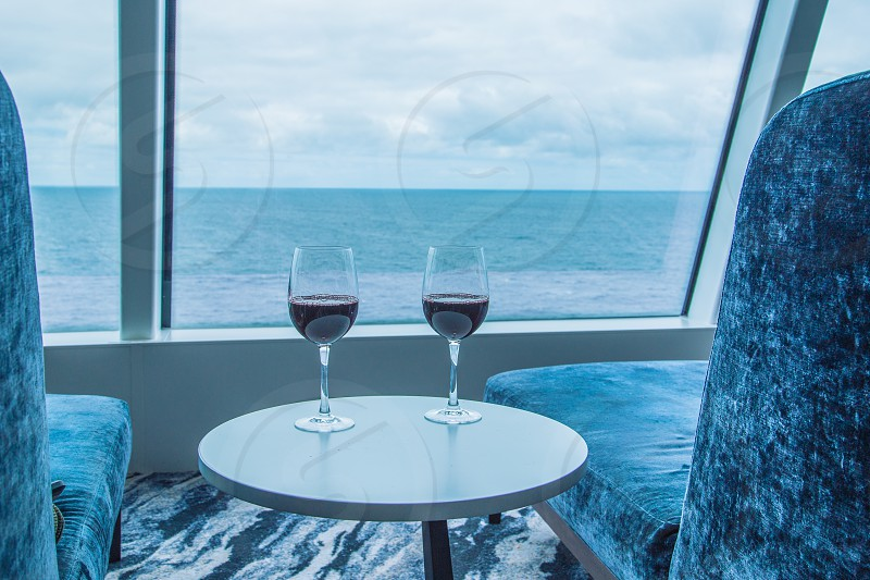 Red wine on the Observation deck photo