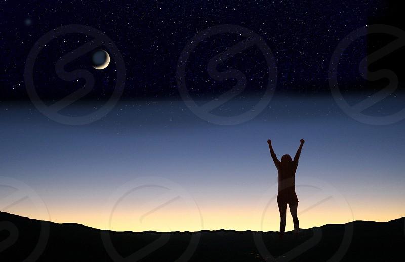 Celebrating dawn or dusk photo