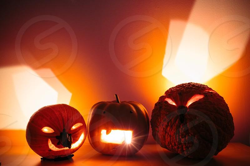 pumpkin lamp photo