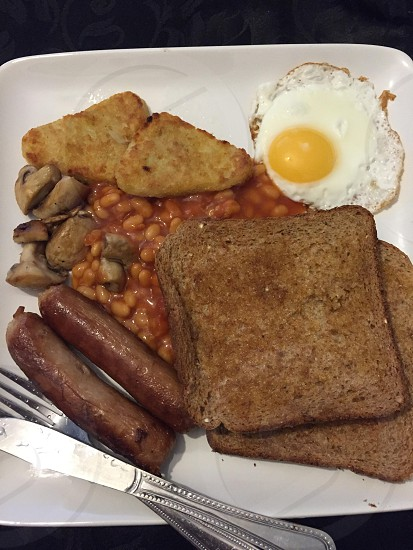 British breakfast  photo