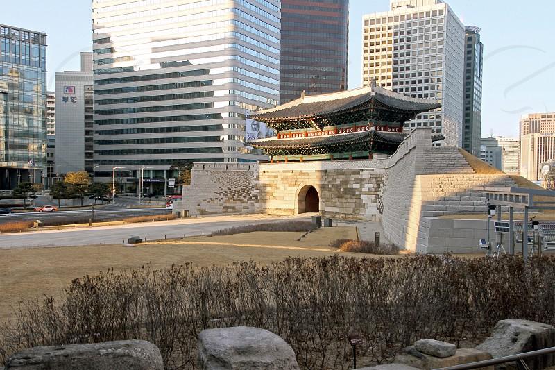 Namdaemun gate in Seoul South Korea. photo