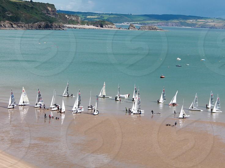 Set sail at Tenby Beach photo