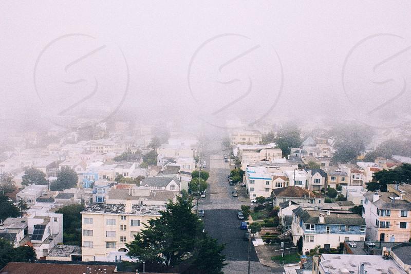 foggy neighborhood  photo