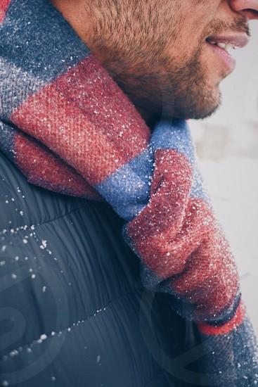 Scarf in winter season  photo