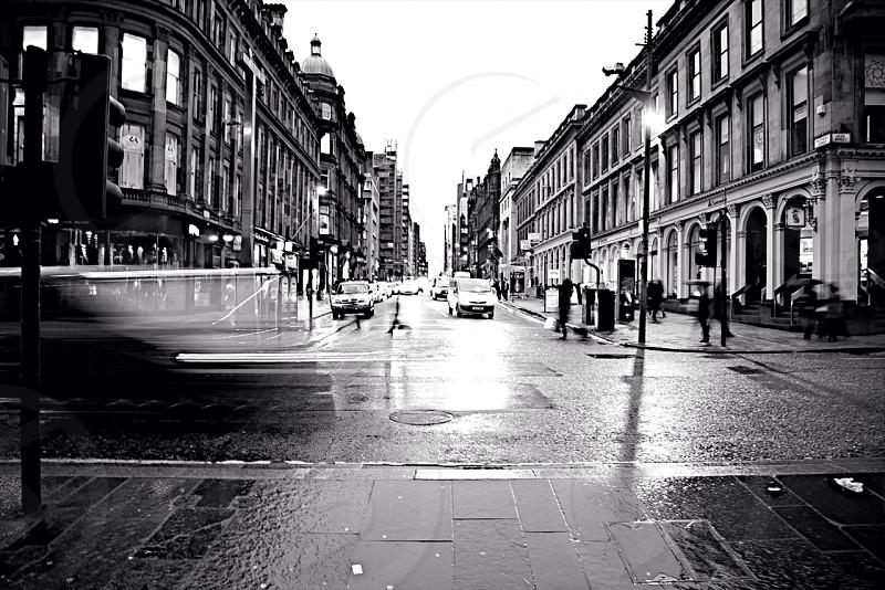 Rushhour in Glasgow Scotland photo