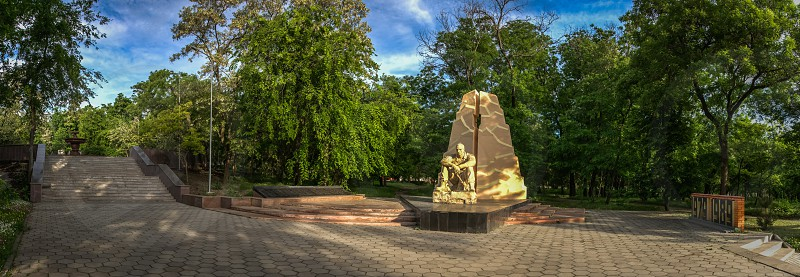 Ukraine Odessa monument to honours of Soviet soldiers killed in Afghanistan photo