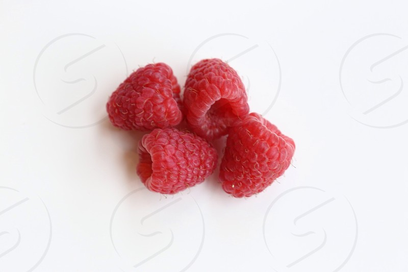 red raspberries photo