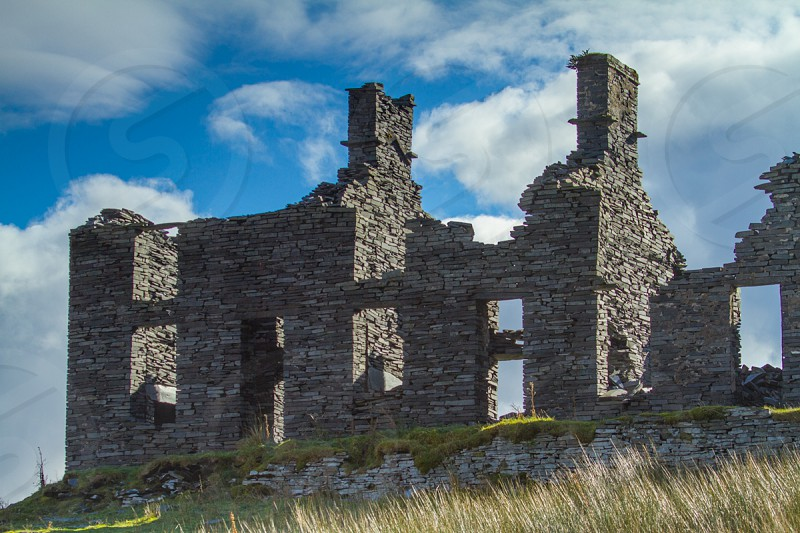 Abandoned Slate House Abandoned Slate Quarry North Wales photo