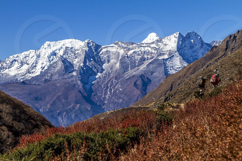 everest mount mt nepal himalaya peak park mountain national range region mountains background kathmandu white travel summit snow asia climb mountaineering view trekking nature namche bazaar photo