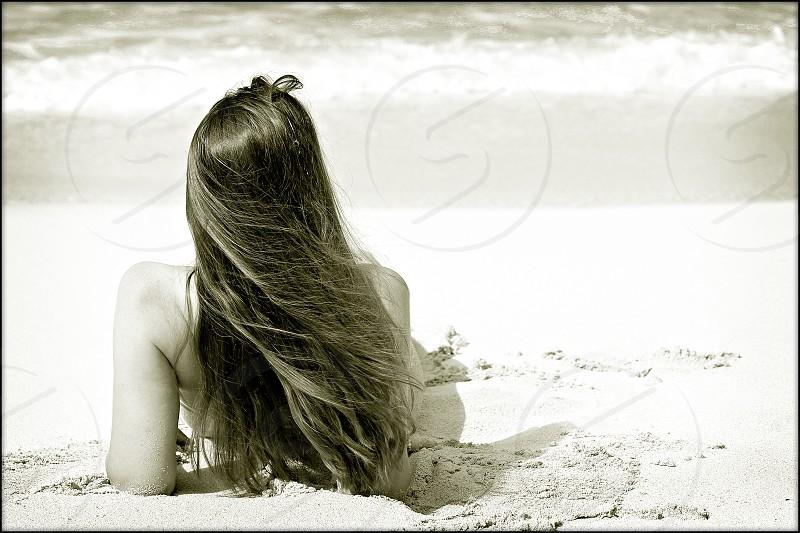 beach ocean woman on the beach vacation photo