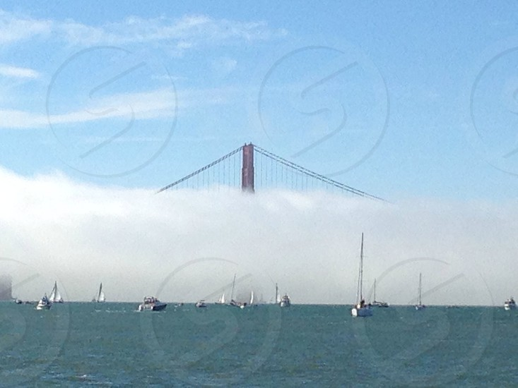 Fog at the Golden Gate Bridge photo