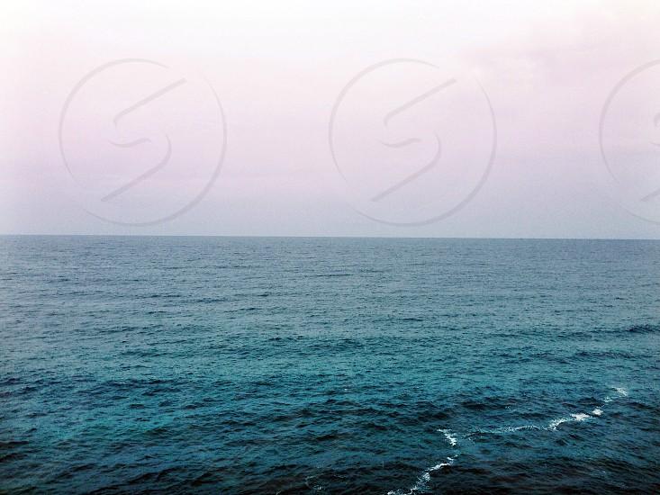 blue sea at twilight photo