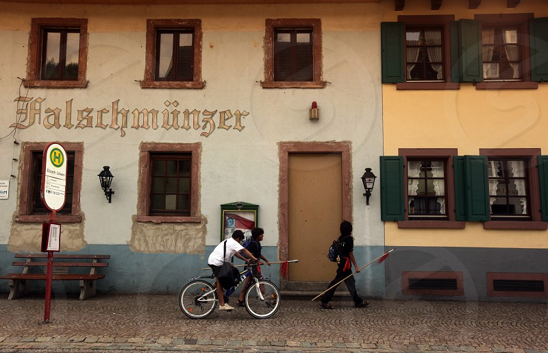 the old town of the villige Gutach in the Blackforest in the south of Germany in Europe. photo