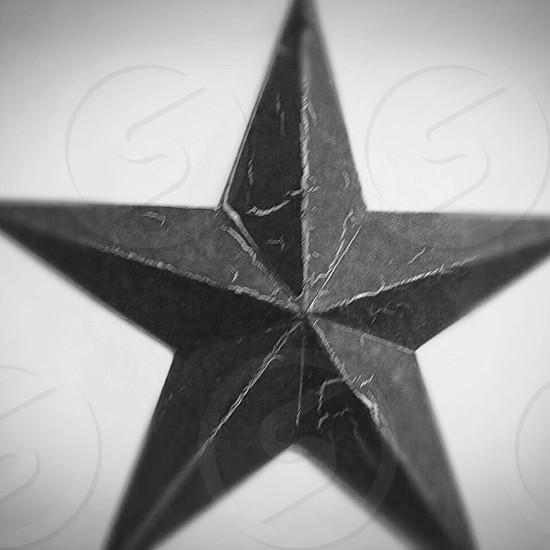 Star black and white  photo