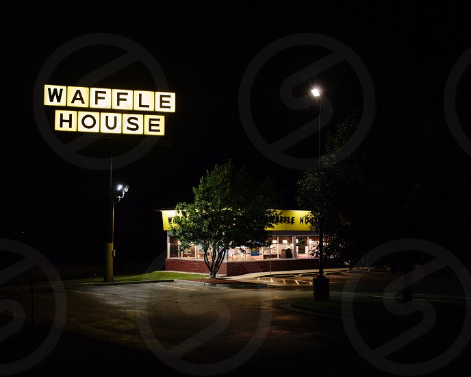 waffle house sign board photo