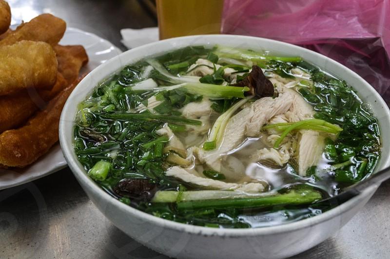 Pho with chicken in Hanoi Vietnam photo