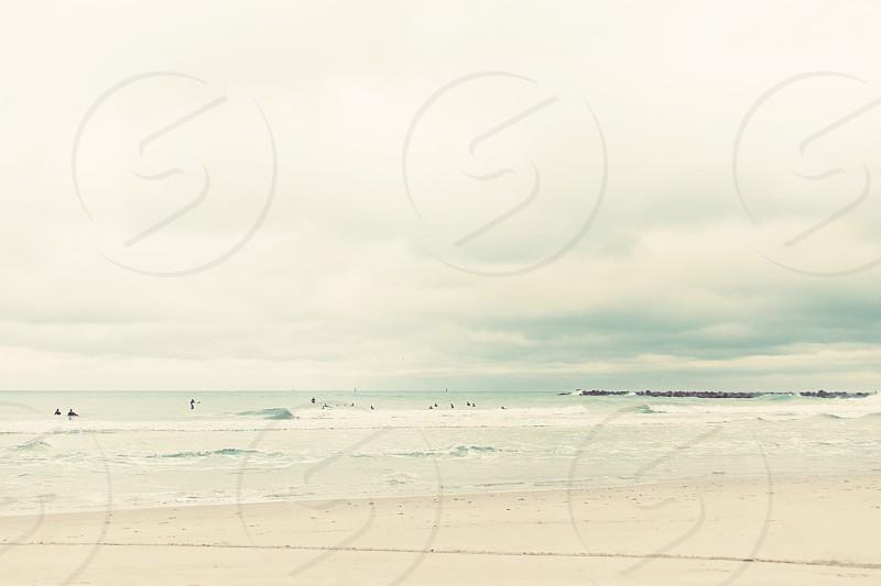 A hazy day at the beach East Coast of South Florida Atlantic Ocean photo