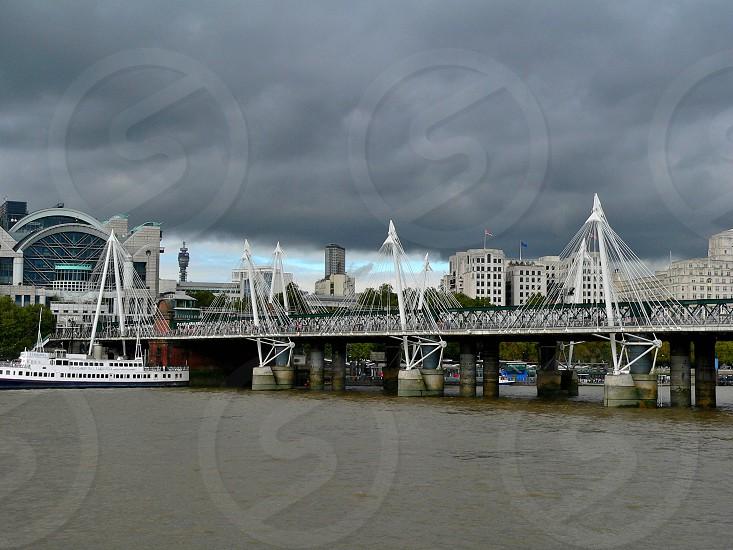 Footbridge in London photo