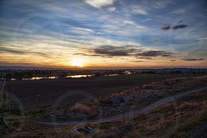 sunset photo photo