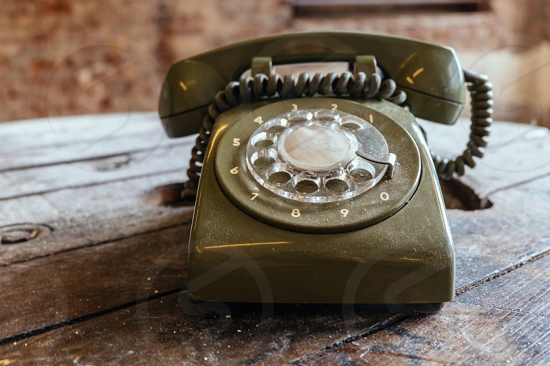 Vintage dial telephone photo