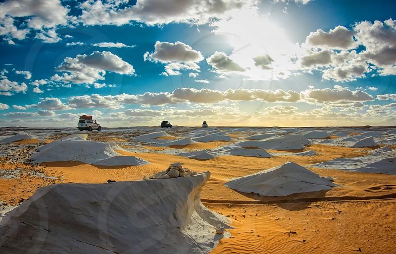 White desert in Egypt photo