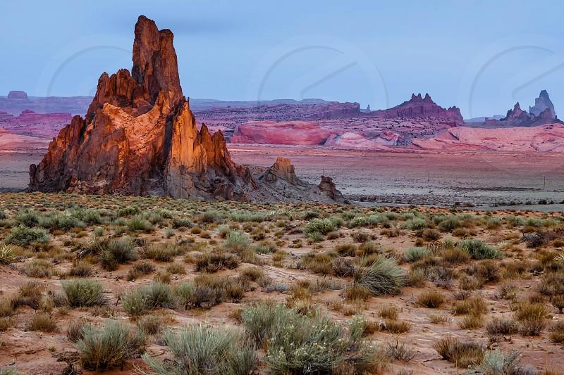 Church Rock near Kayenta Arizona photo
