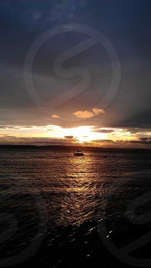 sunrise by the beach photo