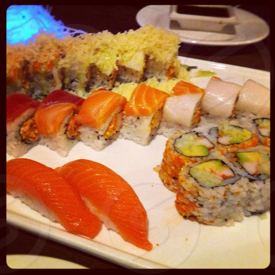 Sushi platter.  photo