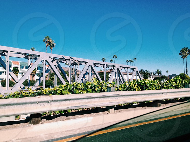 steel framed bridge photo
