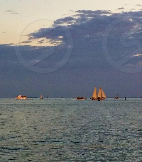 Key West boat at Sunset photo