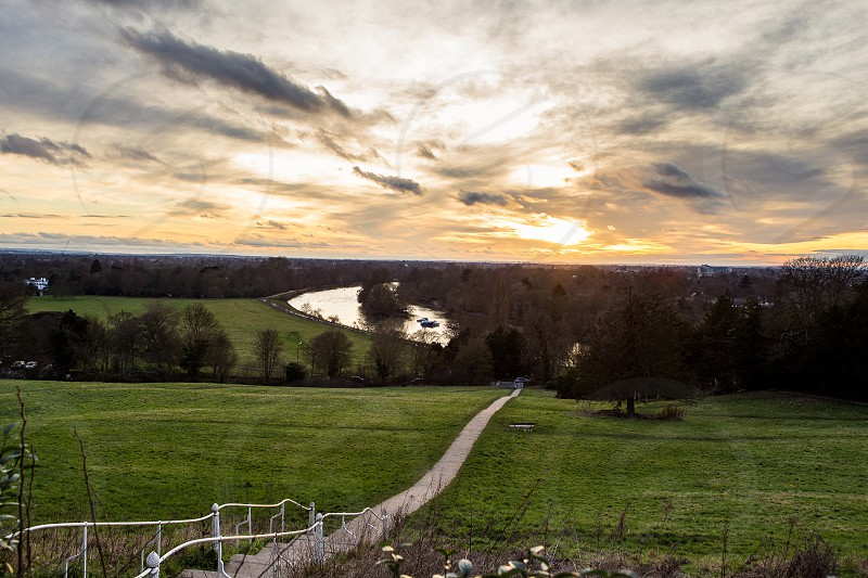 Top of Richmond Hill at Sunset photo