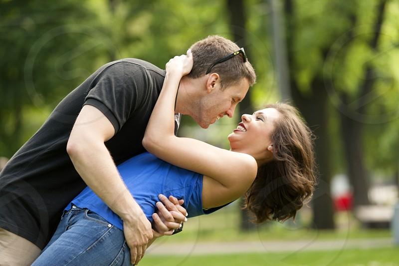Couple in love happy photo