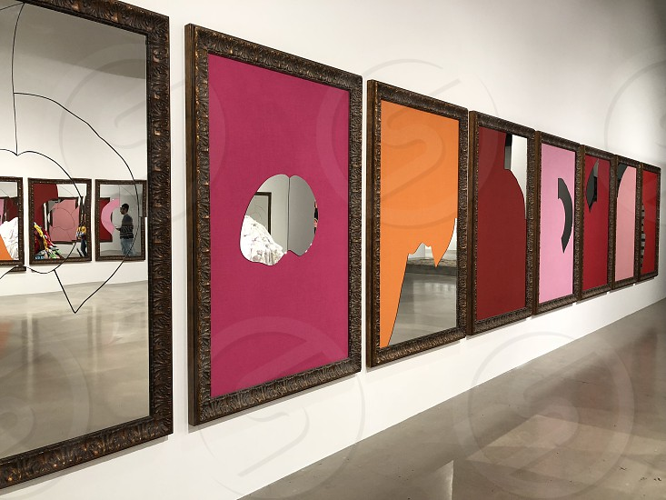 Modern art. Mirrors. Exhibition. photo