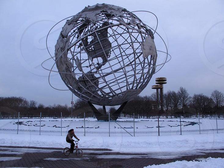 woman riding bmx bicycle photo