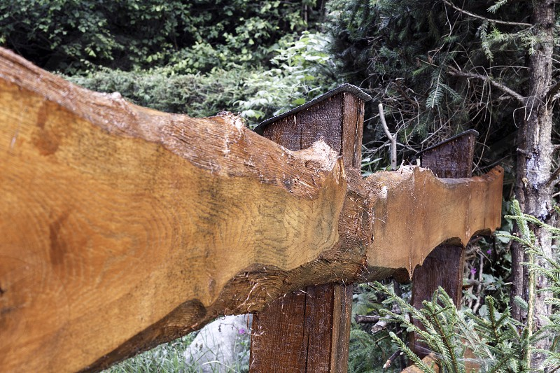 Wooden fence angles photo