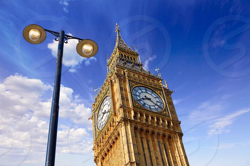 Big Ben Clock Tower in London at England photo