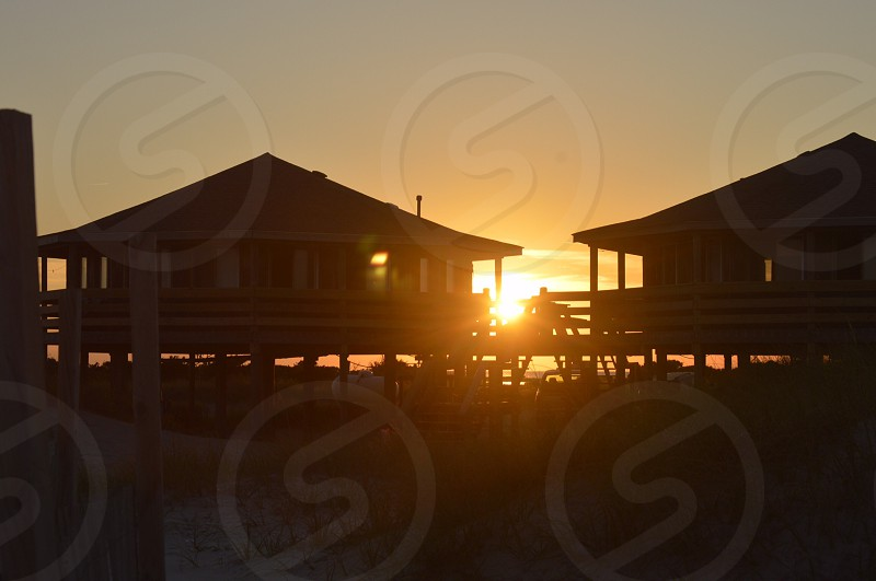 Long Point Cabin and Camps Atlantic NC. Beach Sunset Cabin  photo