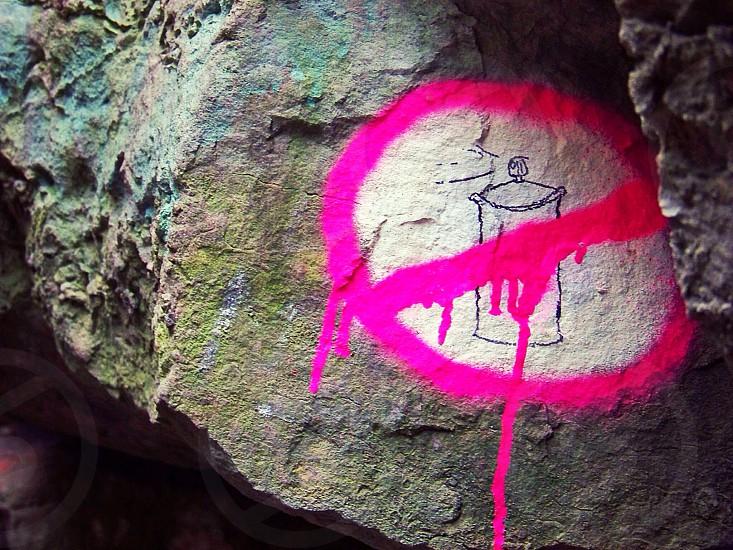 Spray paint Graffiti  photo