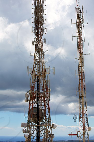 telecommunications tower telephony repeaters in Menorca Pico del Toro photo