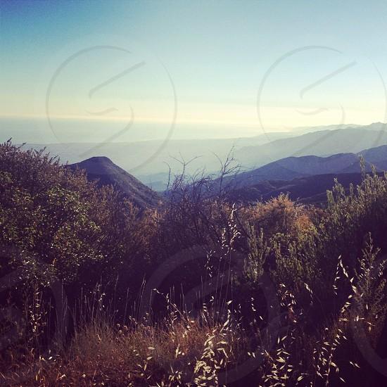 mountains California vista photo