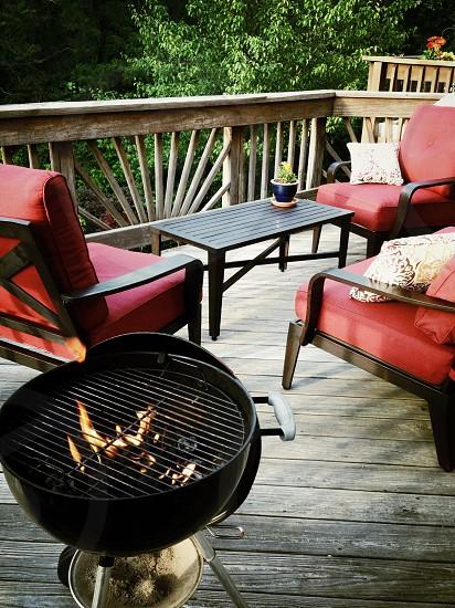 black barbecue grill photo